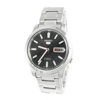 Seiko Watch 5 Automatic Silver Stainless-Steel Case Stainless-Steel Bracelet Mens NWT +