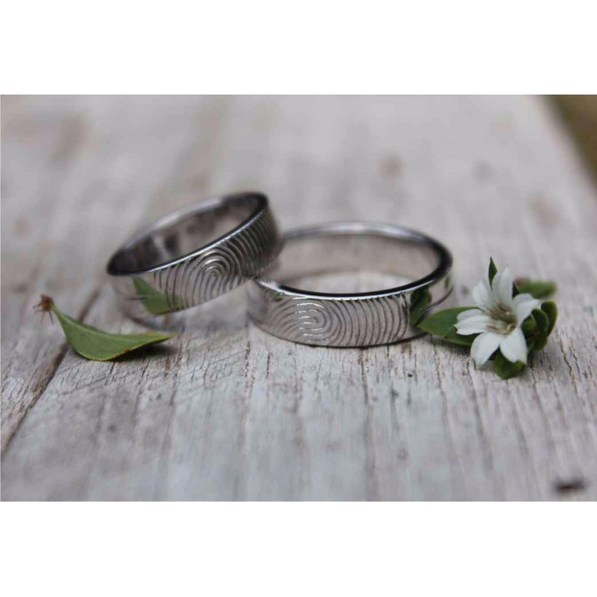 Cheap online sepasang cincin emas putih 18k AuPd