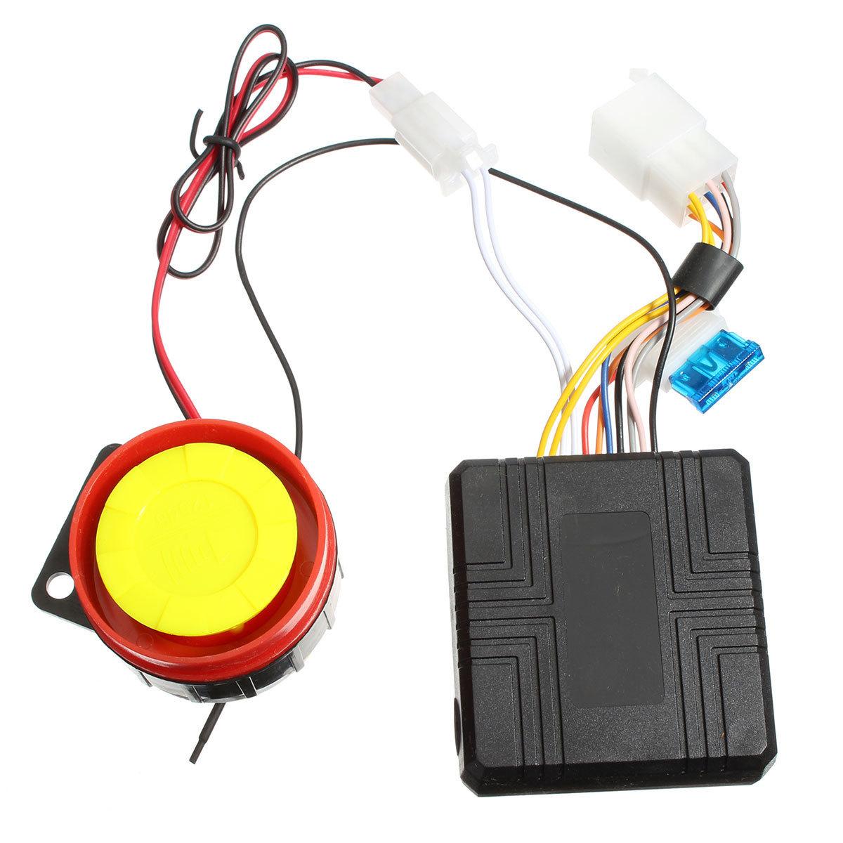 sepeda motor skuter kompak Sistem alarm keamanan remote untukmengendalikan mesin dihidupkan Suzuki Honda .