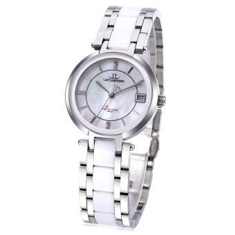 SH LOTUSMAN DL869TWA Women Quartz Watch 3ATM Date Display Artificial Diamond Dial Wristwatch White - intl
