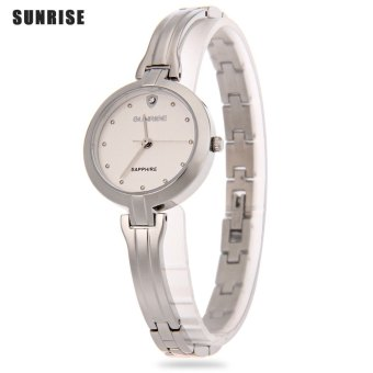 SH SUNRISE SL713SWA Female Quartz Watch Water Resistance Sapphire Mirror Hyperfine Band Wristwatch Silver - intl