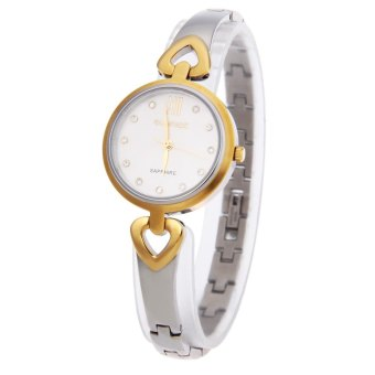 SH SUNRISE SL716SWA Women Quartz Watch Artificial Rhinestone Punctiform Scale Sapphire Mirror Water Resistance Wristwatch Silver - intl