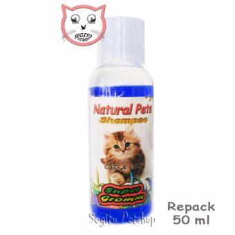 Shampo Kutu Kucing Sampo Anjing Anti Tick Flea Wangi - Mini BiruRepack 50 ML