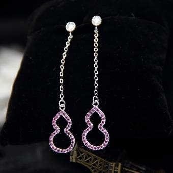 Price Checker SHININGSTAR Jepang dan Korea Selatan 925 sterling silver perempuan style anting-anting labu anting Daftar Harga