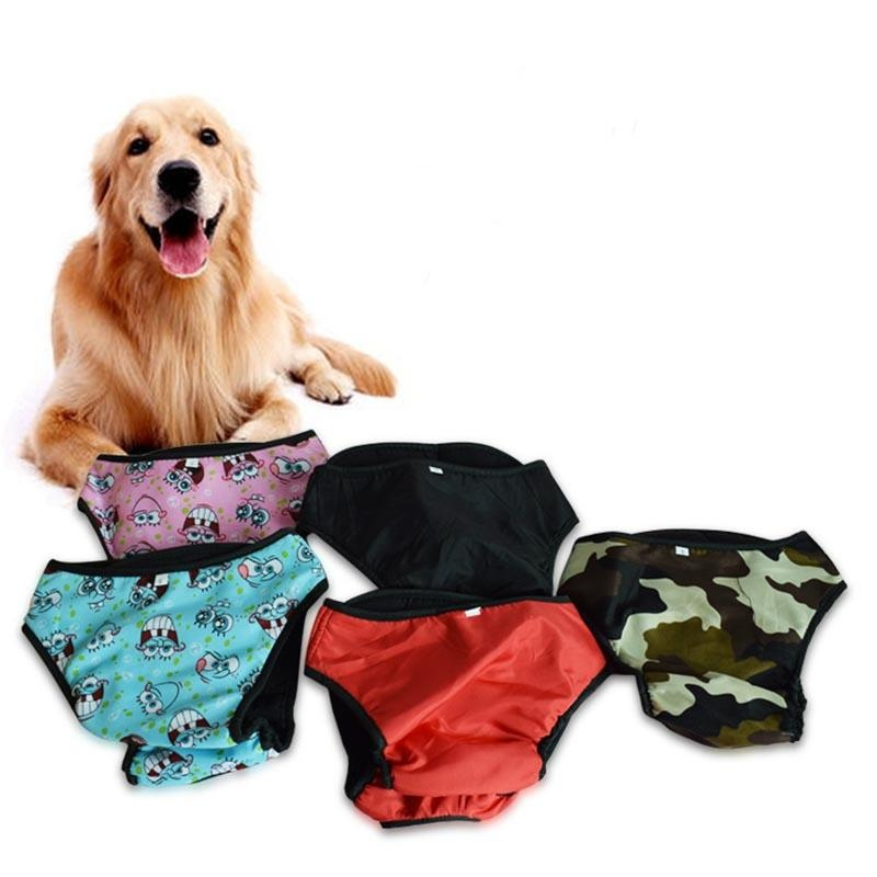 (Size L )Pet Large Dog Diaper Sanitary Physiological Pants WashableFemale Dog Shorts Panties Menstruation ...