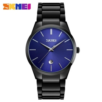 SKMEI 9140 Stainless Steel Watch Men's Uniform Watch Men's Waterproof Watch-Blue