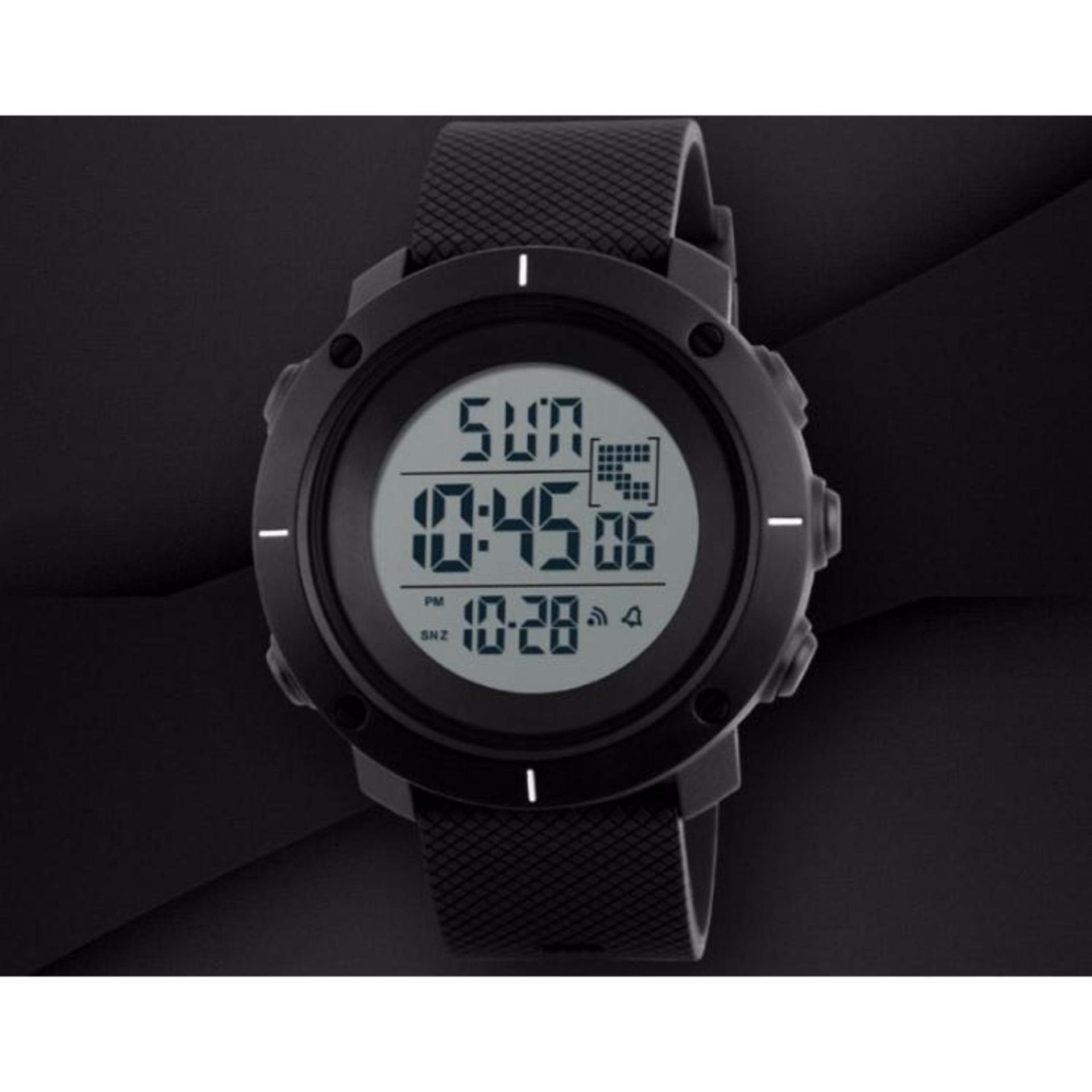 Periksa Peringkat Skmei Casual Men Silicone Strap Watch Water Jam Tangan Pria Resistant 30m 1208 50m Dg1213 Silicon