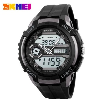 SKMEI Jam Tangan Pria Men Sport LED Watch Water Resistant 50m AD1202 Garansi 1 Bulan -