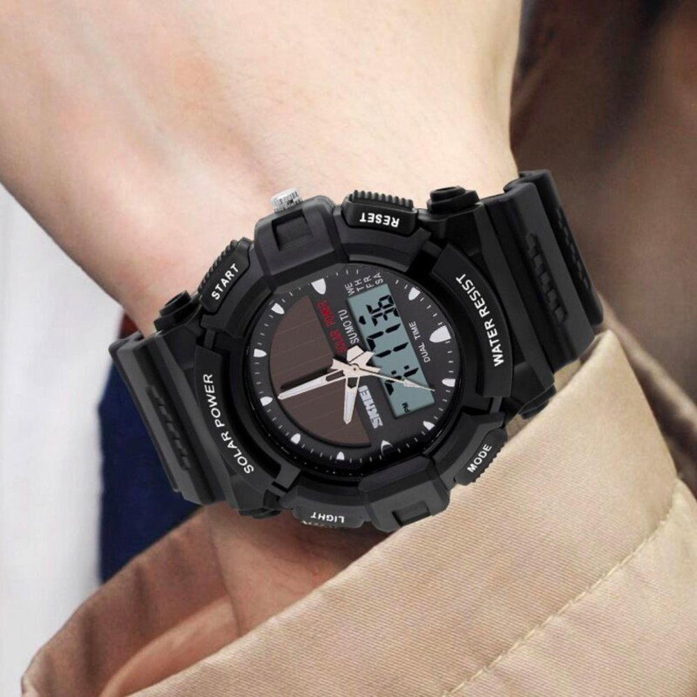 Harga Saya Skmei Jam Tangan Pria Solar Power Sport Led Watch Water Casio Men Resistant 50m Ad1109 Ad1050e Army Green