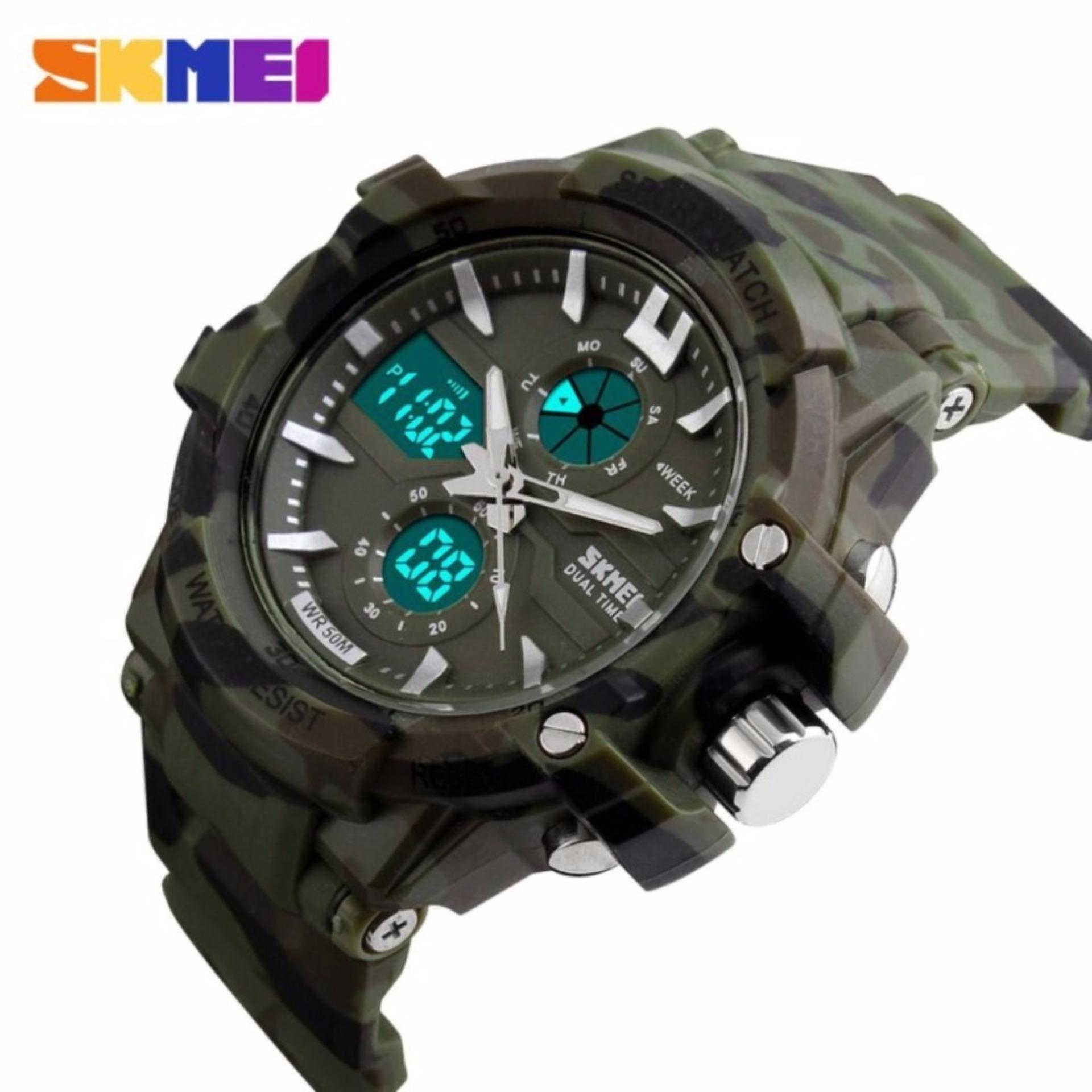 Skmei Men Sport Analog Dual Time Led Watch Water Resistant Wr 50m Ad1202 Jam Tangan Pria Digital Cowok Casio Baby G Shock Fortuner 1202 Anti Air Ad0990