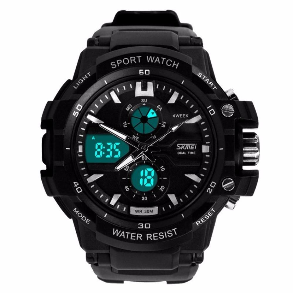 SKMEI Men Sport Analog LED Watch Anti Air Water Resistant WR 50m AD0990 .