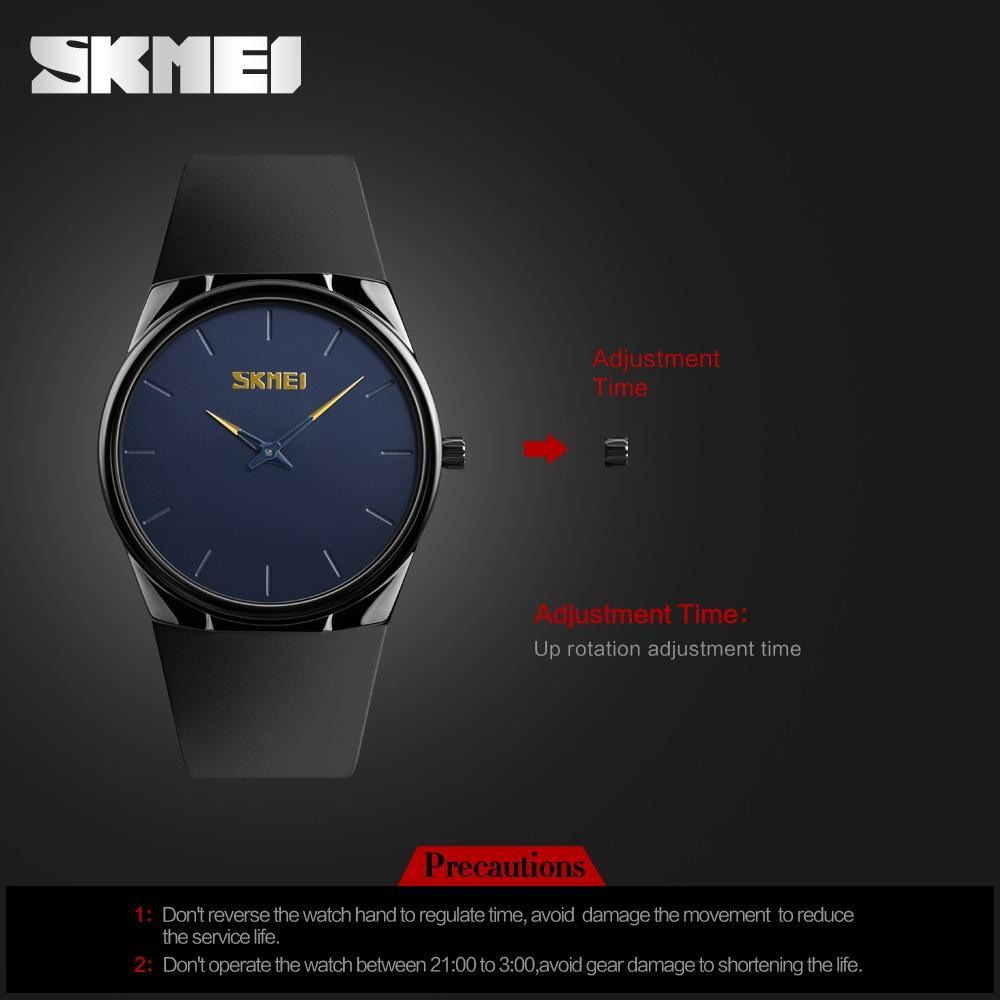 SKMEI merek Watch 1601S pria Ultra tipis kuarsa Watch sederhanagaya lembut PU tali .