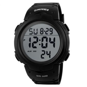 SKMEI Pioneer Sport Watch Water Resistant 50m Jam Tangan Sporty Pria Strap Silicon DG1068 - Hitam