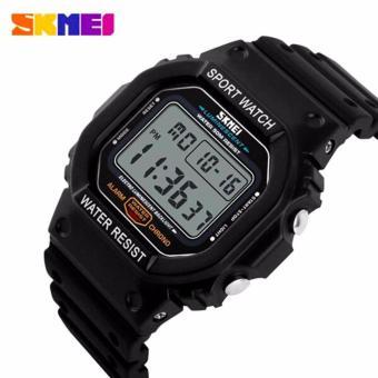 Detail Gambar Produk SKMEI Sport Men LED Watch Anti Air Water Resistant WR 50m DG1134 Jam Tangan Pria Tali Strap Karet Silicone Digital Alarm Wristwatch ...