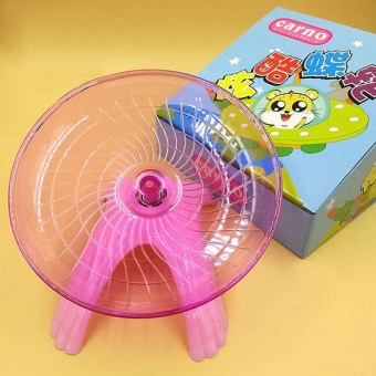 Small Animal Hamster Exercise Flying Saucer Wheel Mice Running PlayToy - intl