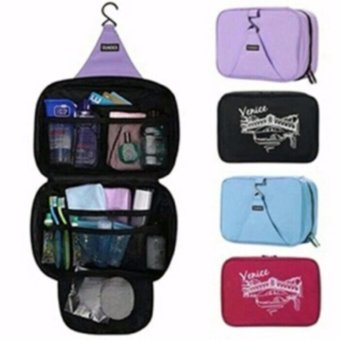 Sonia Hanging Toiletries Bag Organizer Tas Kosmetik Travel Bags Toilet Mandi - Black