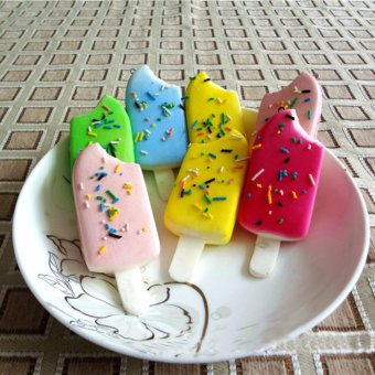 Squishy Sprinkles Popsicle Phone Straps Soft Bread Scented Key Chains Kids Toy - intl