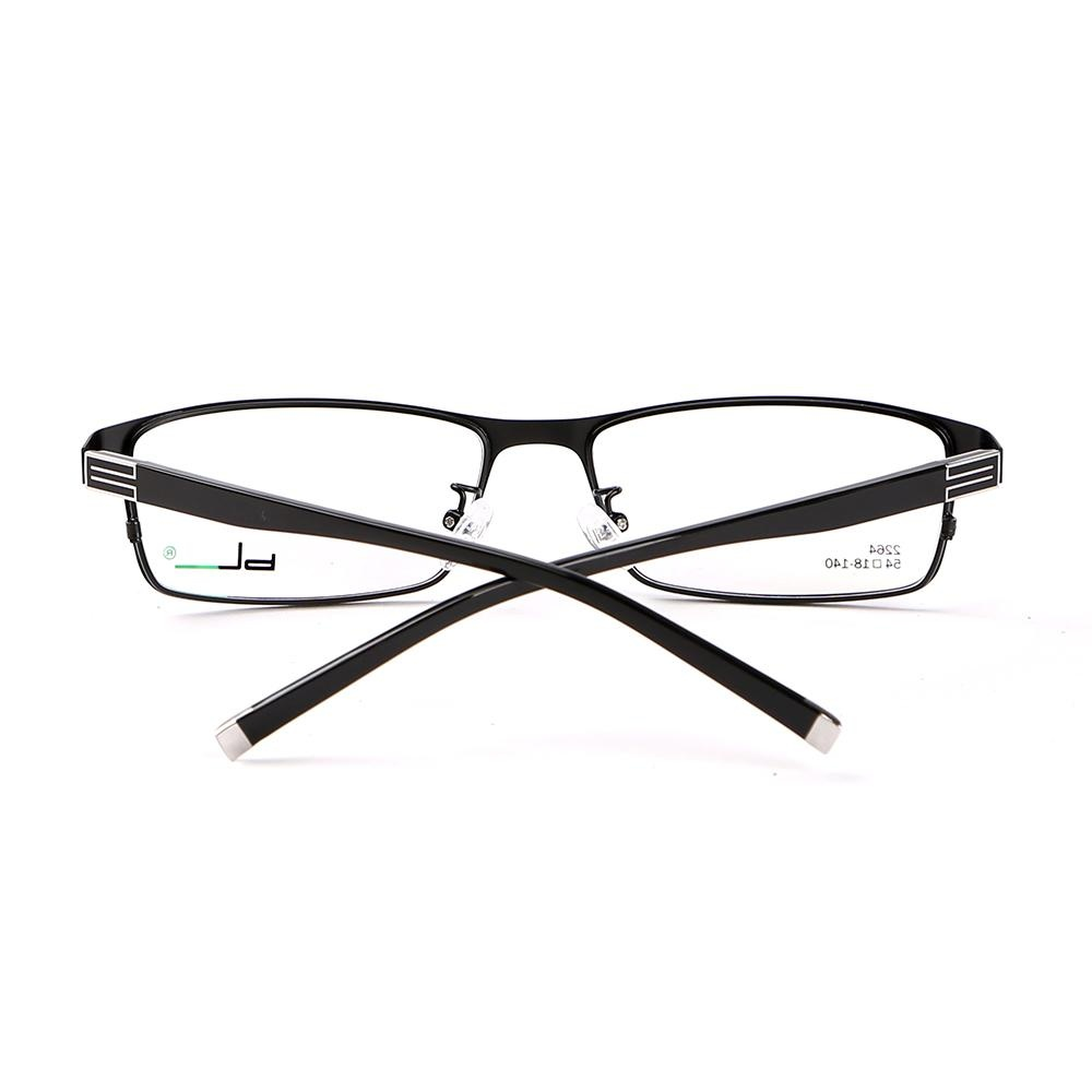 Stallane Fashion Optical Myopia Glasses Frame Alloy Spectacle Eyewear Full Rim Eyeglasses for Men (Black ...