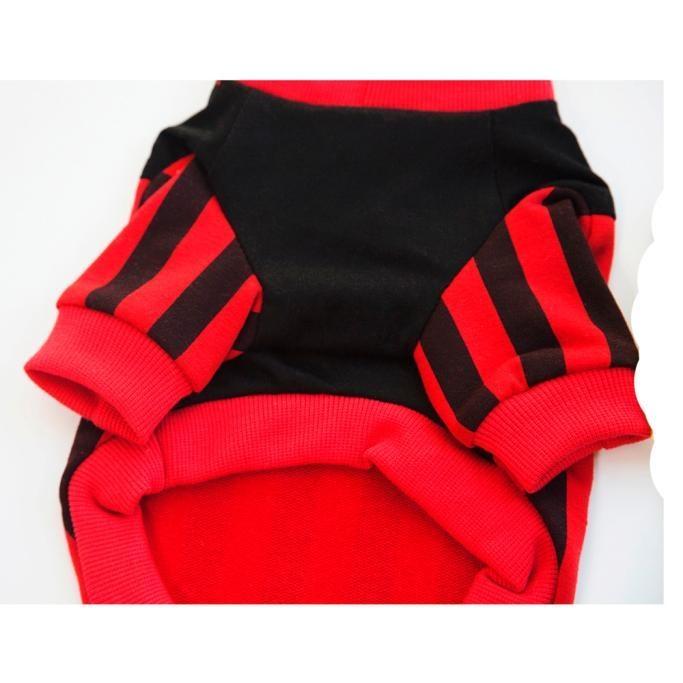 Striple Baseball Vest T-shirt Dog Sweater Pet Clothing RDL - intl
