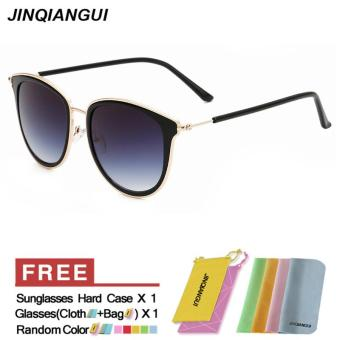 Sunglasses Women Cat Eye Retro Grey Color Polaroid Lens TitaniumFrame Driver Sunglasses Brand Design Original Box