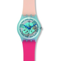 Swatch - Jam Tangan Wanita - Biru-Biru - Rubber Pink Cream - GL118