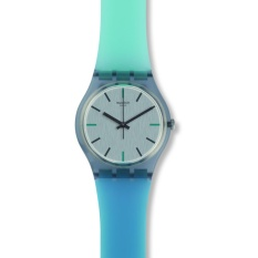 Swatch - Jam Tangan Wanita - Grey-Grey - Rubber Blue , Light Green - GM185