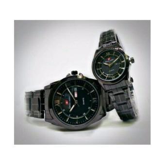 Swiss Army Couple SA2573 - Jam Tangan Pasangan - stanlis steel-