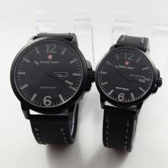 Swiss Army - Jam Tangan Couple - Leather Strap-SA 4421