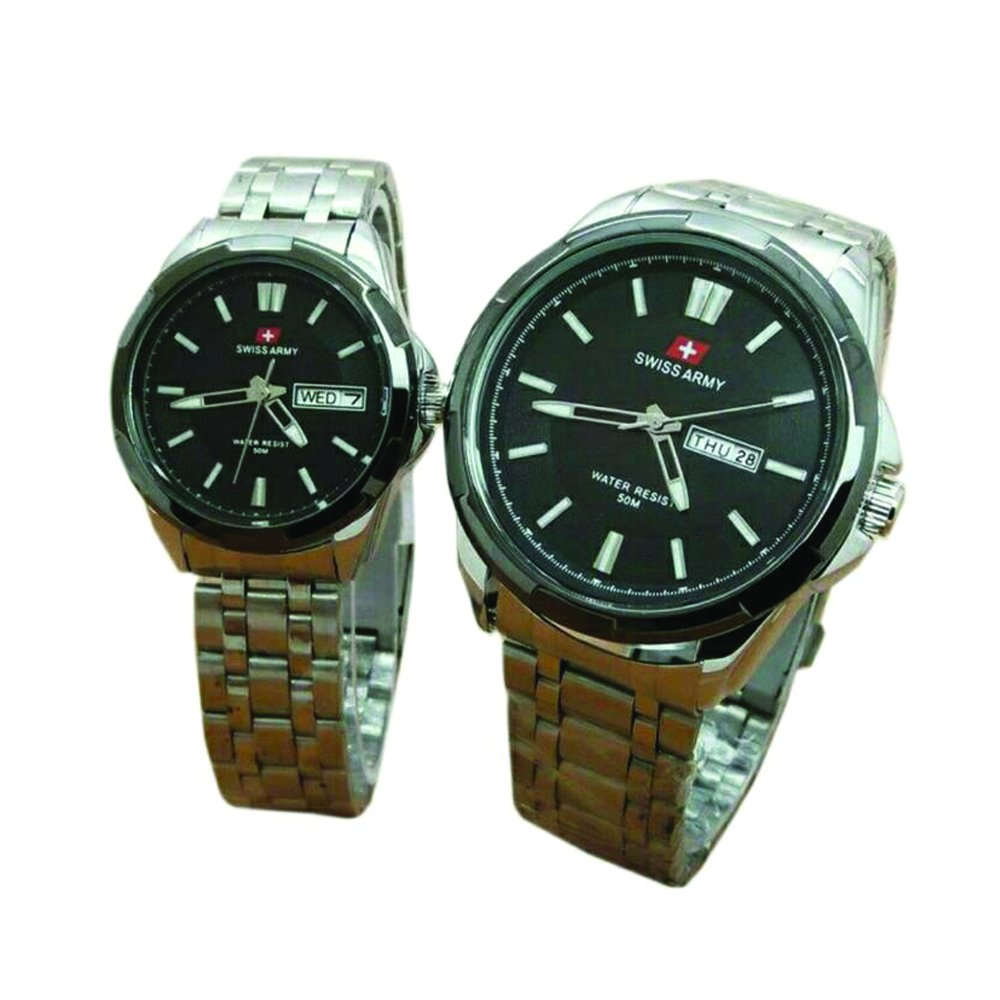 Steel Source Fortuner Jam Tangan Pria Strap Stainless. Source · Swiss Army .