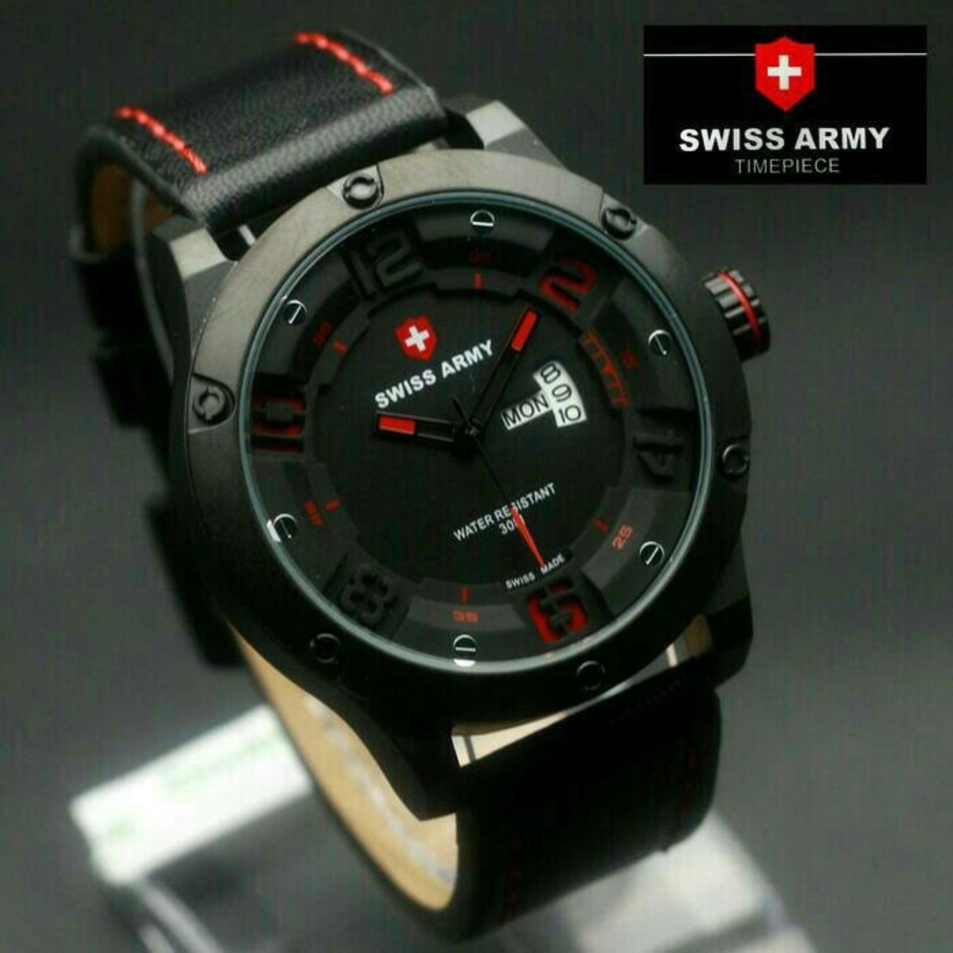 Swiss Army Jam Tangan Pria Strap Kulit Sa 1098 Daftar Update Harga 2011 Mqbtbsl Putih Silver Original 3035