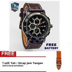Swiss Army - Jam Tangan Pria - Strap Kulit - Coklat Tua - SA 9100-6 L (Free Tali Jam)