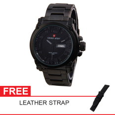 Swiss Army Limited Edition Free Leather Strap - Hitam  - Stainless  - SA 0360 7169 BL GRY