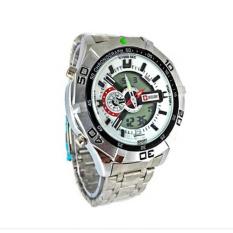 Swiss Army dual time - Jam Tangan Pria - SA-870Q2 silverIDR133000. Rp 133.900