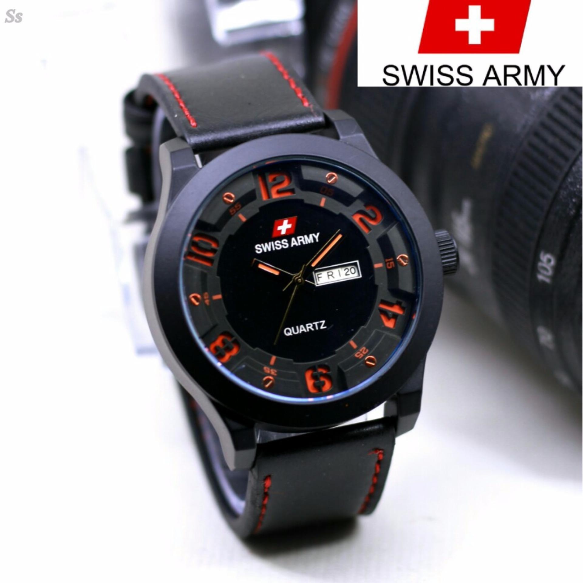 Flash Sale Swiss Army - Original - Jam Tangan Pria - Tali Kulit - 4432 AR