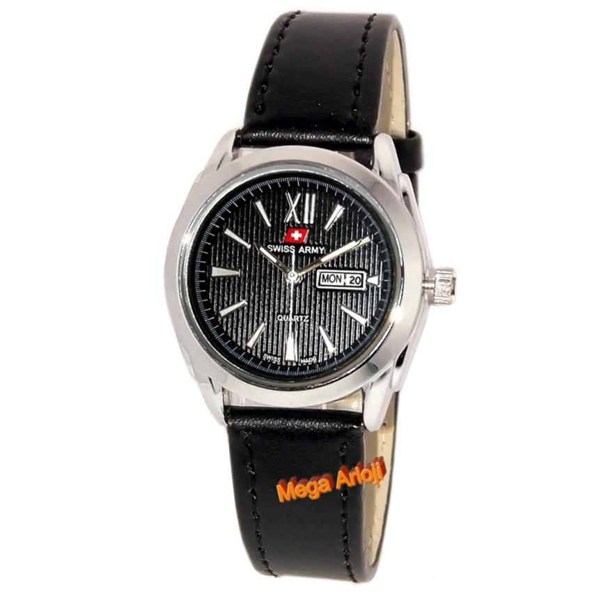 Leather stainless steel - SA 2997W - Silver. Source · Swiss Army .