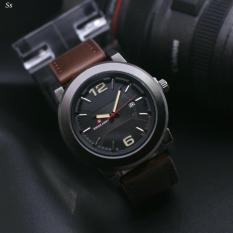 Swiss Army Tanggal Jam Tangan Pria Strap Leather-SA 6711 AS