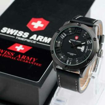 Swiss Army Time Peace Original - SA 7567 H Jam Tangan FAshion Pria - Strap Kulit