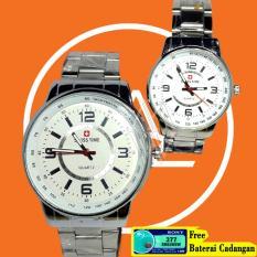 Swiss Time jam tangan coupel-bahan stainless steel