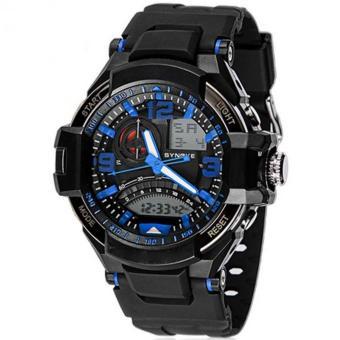 SYNOKE 67876 Jam Tangan Pria Sport Analog - Digital Silikon PU 54 mm - Anti Air 50 M Renang - Water Resistant Watches
