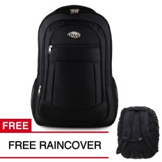 Tas Ransel Polo USA Black Lizard Tas Laptop Backpack + FREE Raincover Tas Pria Tas Kerja Tas Sekolah Tas Fashion Pria