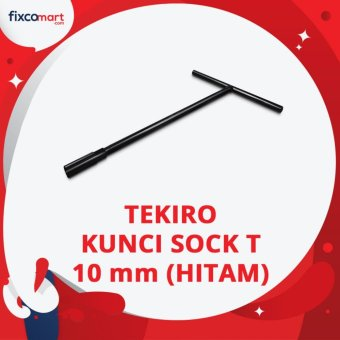 Tekiro T Type Wrench / Kunci Sock T Hitam 10 mm