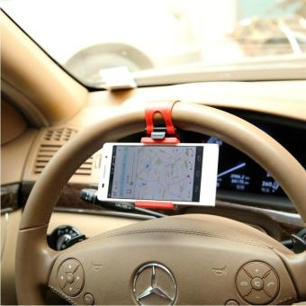 Telepon mobil dudukan telepon dudukan mobil roda kemudi telepon dudukan mobil dengan dudukan ponsel
