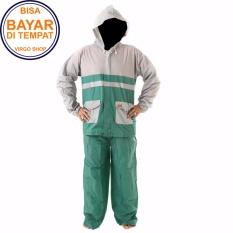 Termurah Elmondo Jas Hujan Setelan Baju Celana - New Kombinasi Tipe 905 - Kombinasi Hijau