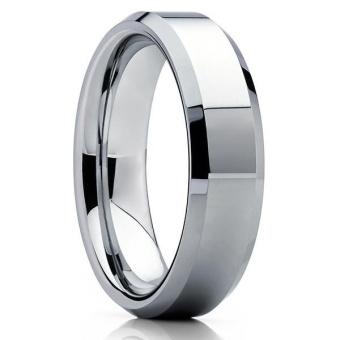 harga The new tungsten gold fashion jewelry personality tungsten steelmen's ring tungsten steel ring TCR-013 - intl Lazada.co.id