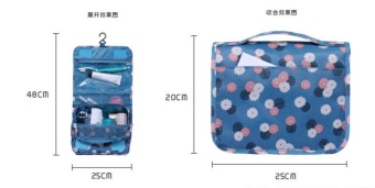 The new version of the Korean can be folded travel package wash bag hang type toilet bag make-up toilet bag(blue) - intl