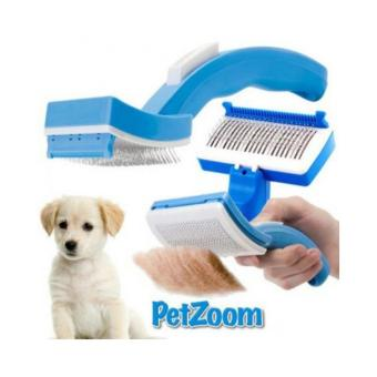 Tigaduasatu Sisir Anjing dan Kucing PetZoom - Biru