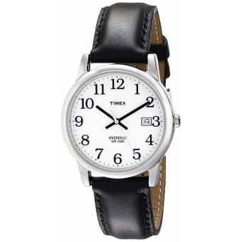 Harga Timex Men T2H281 Easy Reader Date Leather Strap Watch black - intl