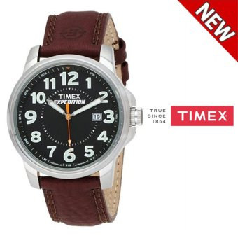 harga Timex Men's T44921 Expedition Metal Field Brown Leather Strap Watch(Brown) - intl Lazada.co.id