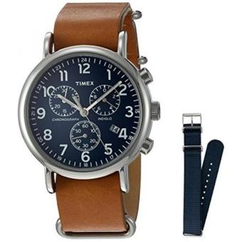harga Timex TWG012800QM Analog Quartz Brass Brown & Blue WeekenderWatch - intl Lazada.co.id