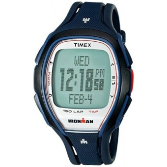 Timex Unisex TW5K96500 Ironman Sleek 150 TapScreen Full-Size Dark Blue Resin Strap Watch - intl